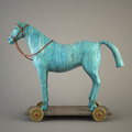 Blue wood horse (symbol of the new year 2014) - PhotoDune Item for Sale