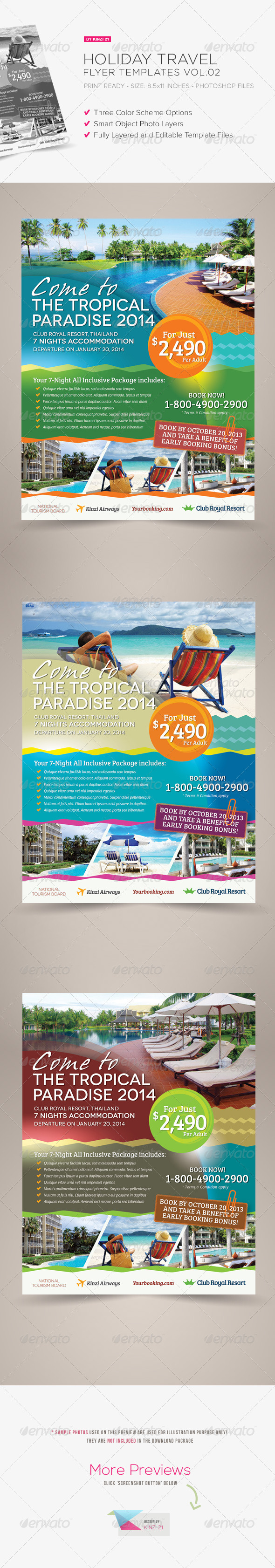 Holiday Travel Flyer Vol.02 - Corporate Flyers