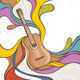 Abstract Illustration with Acoustic Guitar - GraphicRiver Item for Sale