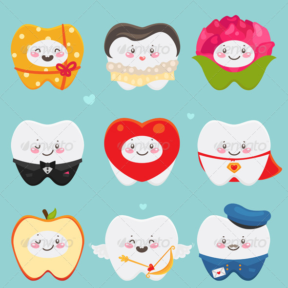 GraphicRiver Teeth on Valentines Day 5964206