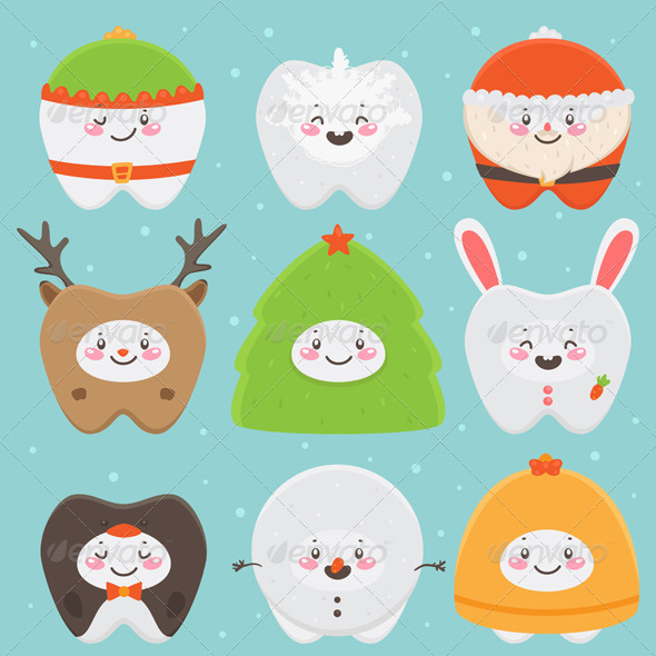 GraphicRiver Christmas Teeth 5964344