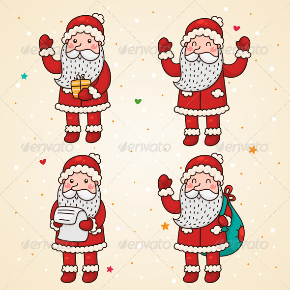 GraphicRiver Santa Claus Set 5964666