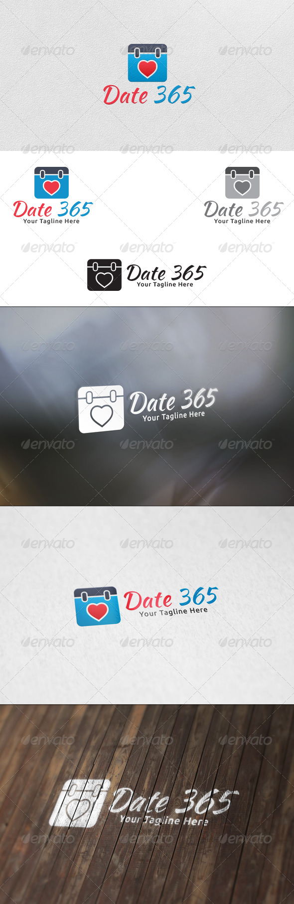 GraphicRiver Date 365 Logo Template 5965156
