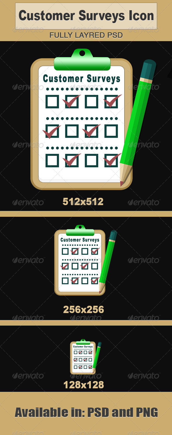 GraphicRiver Customer Surveys Icon 5965276