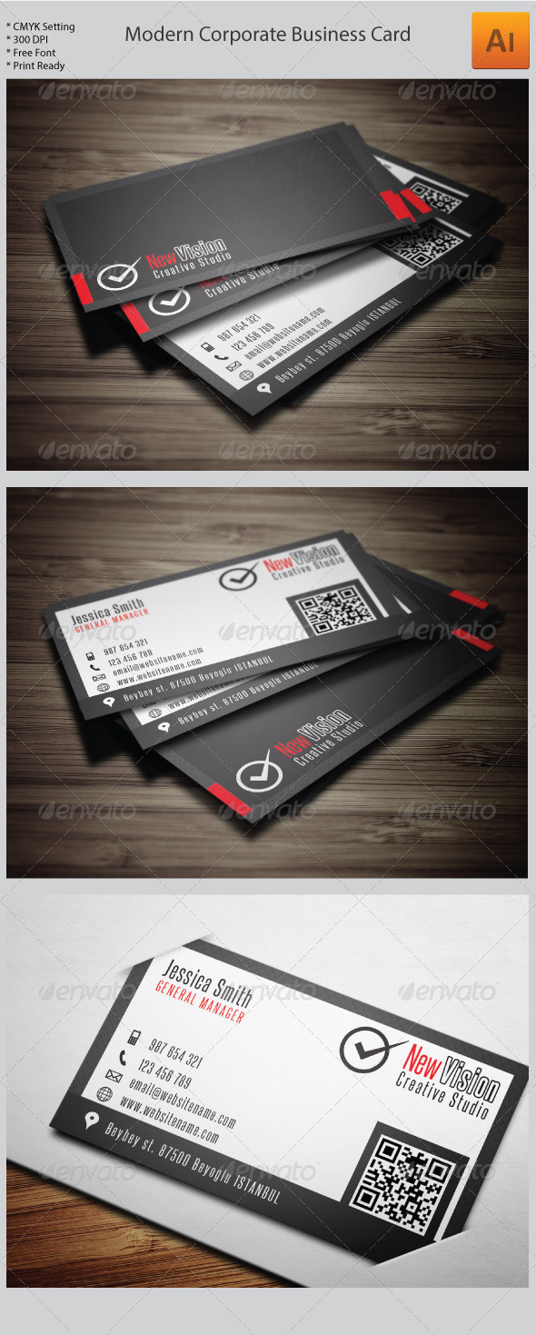 GraphicRiver Modern Corporate Business Card 5966368