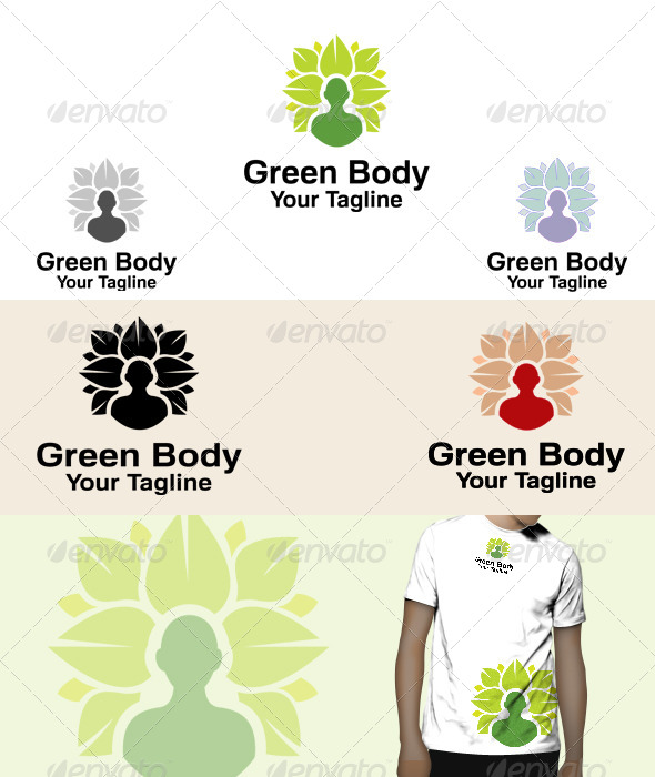 GraphicRiver Green Body Logo 5966612