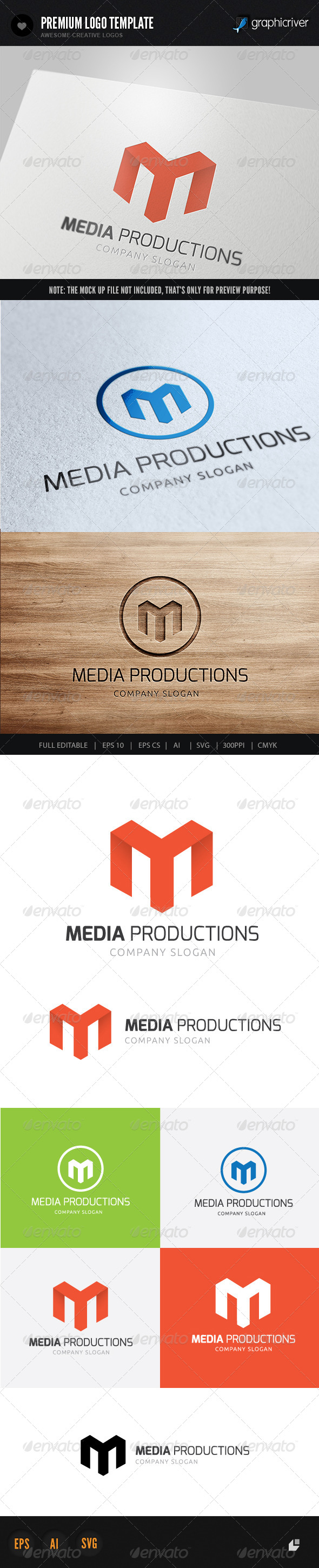 GraphicRiver Media Productions Logo 5967119