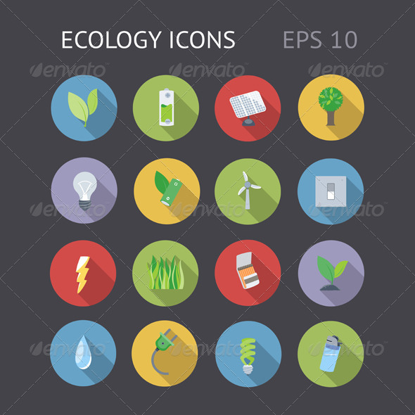 GraphicRiver Flat Icons For Ecology 5967127