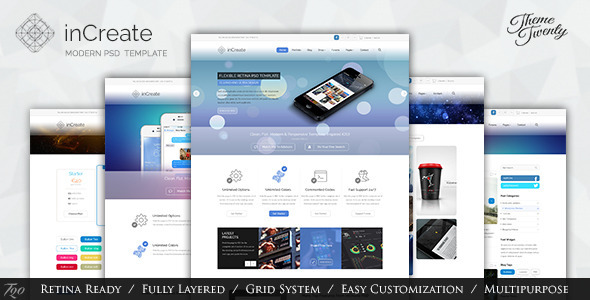 ThemeForest inCreate Multipurpose PSD Template 5967334