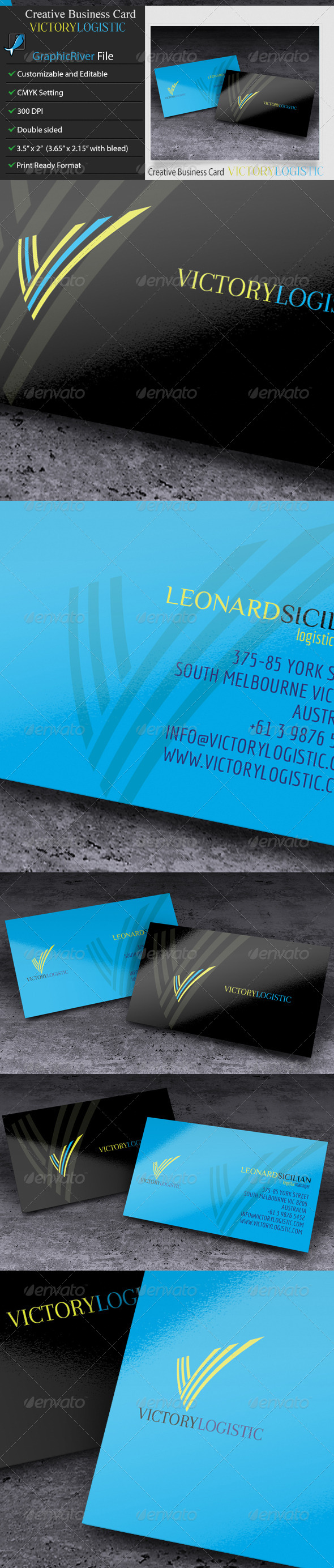 GraphicRiver Creative Business Card Victory Logistic 5967404