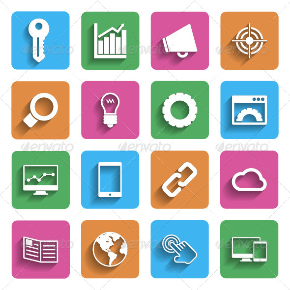 GraphicRiver Modern Flat Icons 5943098
