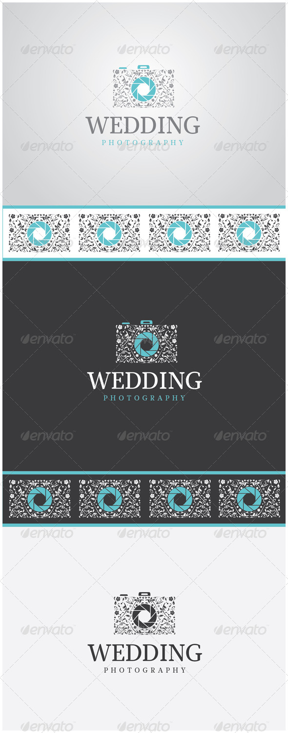 GraphicRiver Wedding Photography Camera Logo 5967431