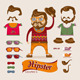 Hipster Handsome Man with Hipster Accessories - GraphicRiver Item for Sale