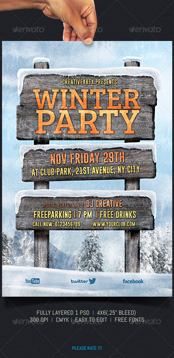 GraphicRiver Winter Party 5968179