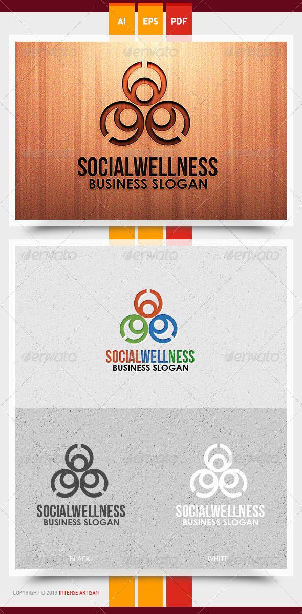 GraphicRiver Social Wellness Logo Template 5968546