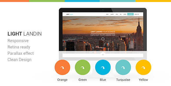 ThemeForest Light Landin Multipurpose Parallax Landing Page 5969681
