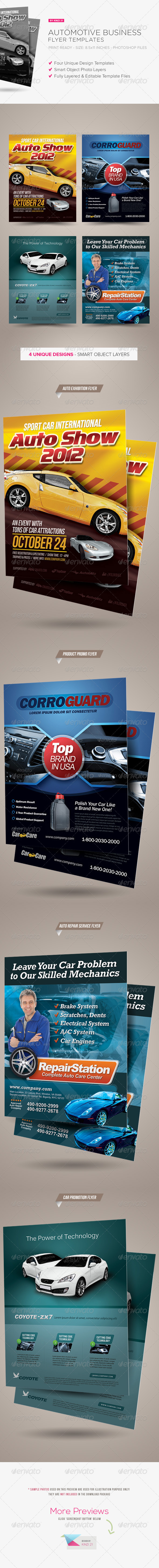 Premium Automotive Business Flyers - Corporate Flyers
