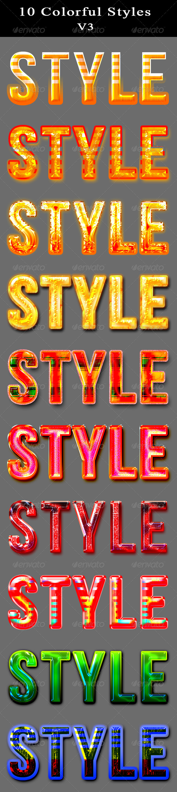 GraphicRiver 10 Colorful Layer Styles 5970181