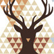 Christmas Deer with Abstract Geometric Pattern - GraphicRiver Item for Sale