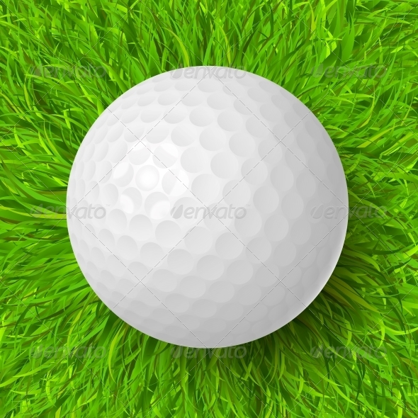 GraphicRiver Golf Ball on Grass 5972228