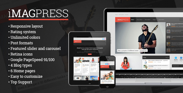 iMagPress - Flat Magazine Theme