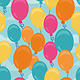 Vector Seamless Pattern with Balloons - GraphicRiver Item for Sale