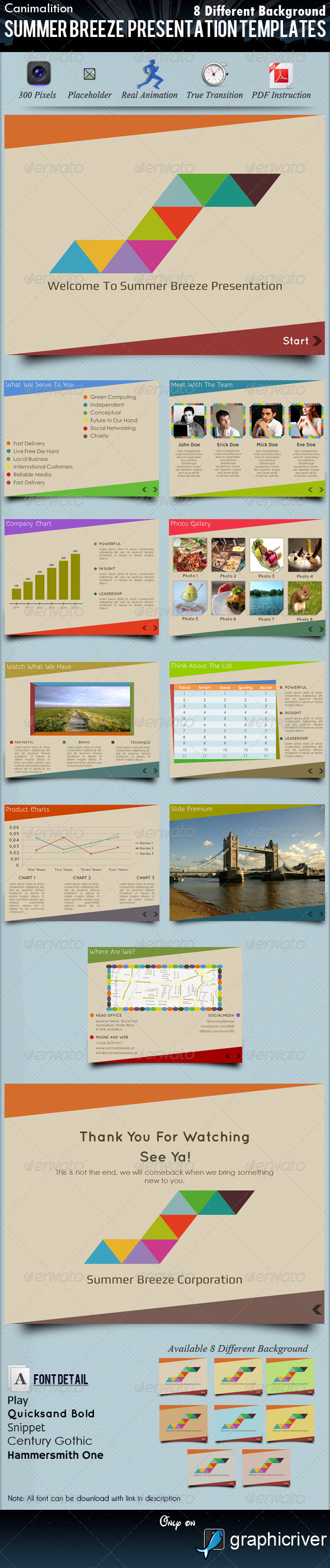 Summer Breeze Presentation Templates - Creative Powerpoint Templates