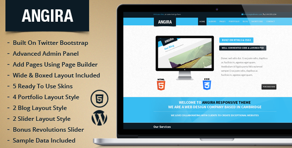 Angira Responsive Multipurpose WordPress Theme - This is the preview for the file.