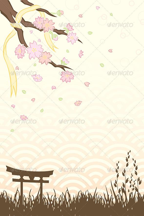 GraphicRiver Cherry Blossoms 5973653