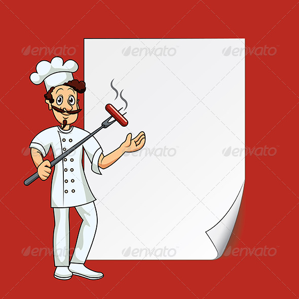 GraphicRiver Cook with Blank Paper 5973977