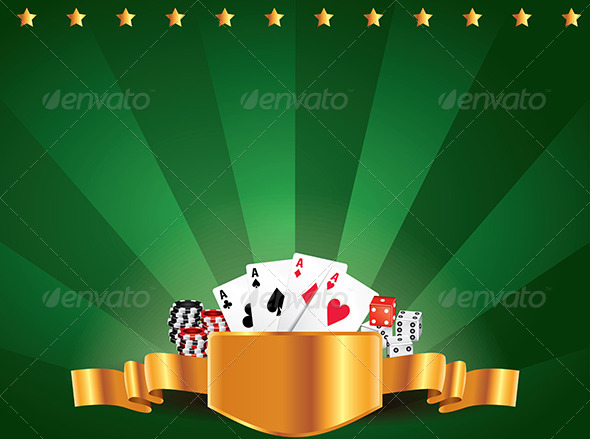 GraphicRiver Casino Green Luxury Horizontal Background 5973982