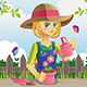 Gardening Woman - GraphicRiver Item for Sale