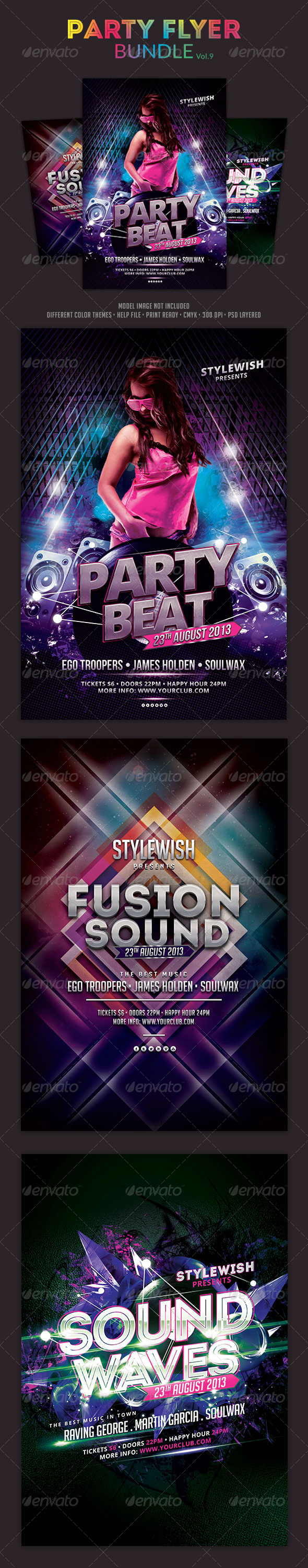 Party Flyer Bundle Vol9 - Clubs & Parties Events