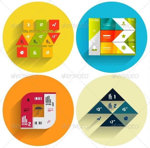 GraphicRiver Geometric Flat Templates Icon Set 5974138