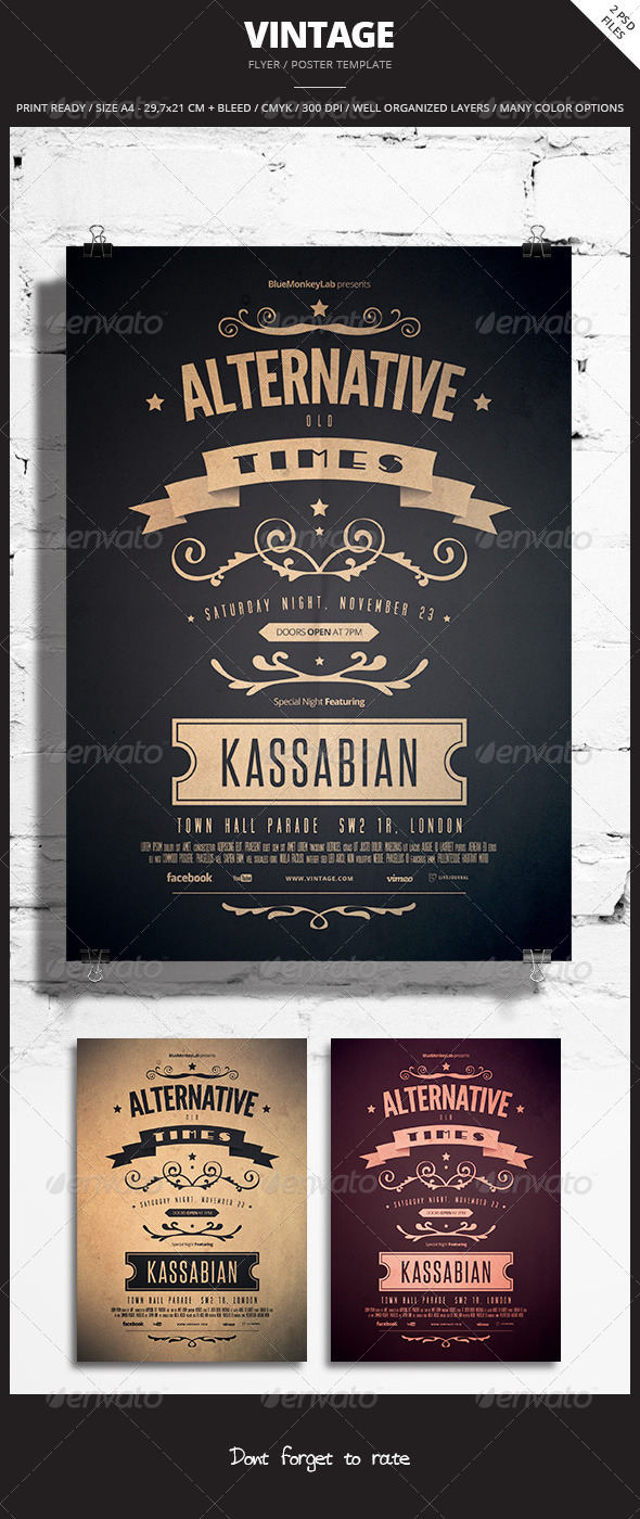 GraphicRiver Vintage Flyer Poster 5 5976388