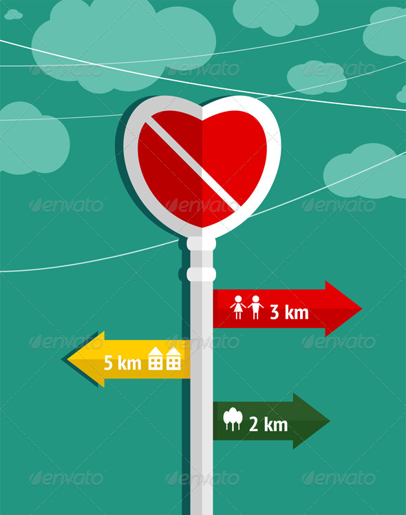 GraphicRiver No Love Heart Shape Sign 5976473