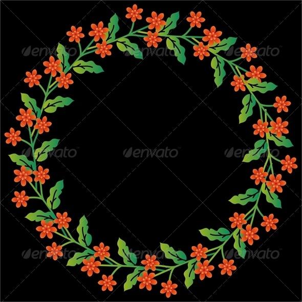 GraphicRiver Floral Frame 5976529