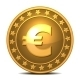 Gold Coin with Euro Sign - GraphicRiver Item for Sale