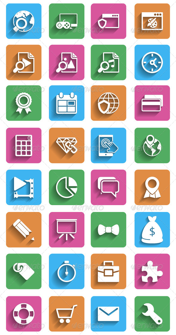 GraphicRiver Internet Marketing Flat Icons 5977021