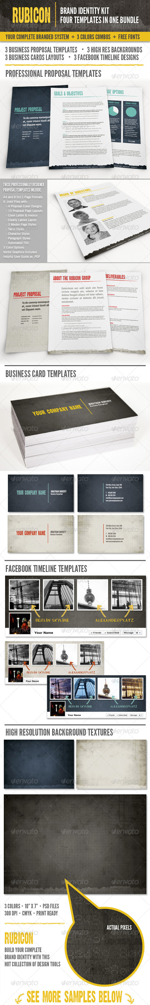 Rubicon Branded Identity Kit Bundle - Miscellaneous Print Templates