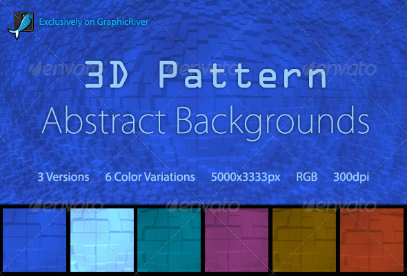 GraphicRiver 3D Pattern Abstract Backgrounds 5901748