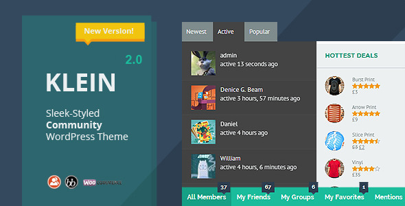 Version 2.0 is now available for download. (10/14/2013) Always use the child theme for heavy customization. Thanks! Klein is an innovative WordPress theme built