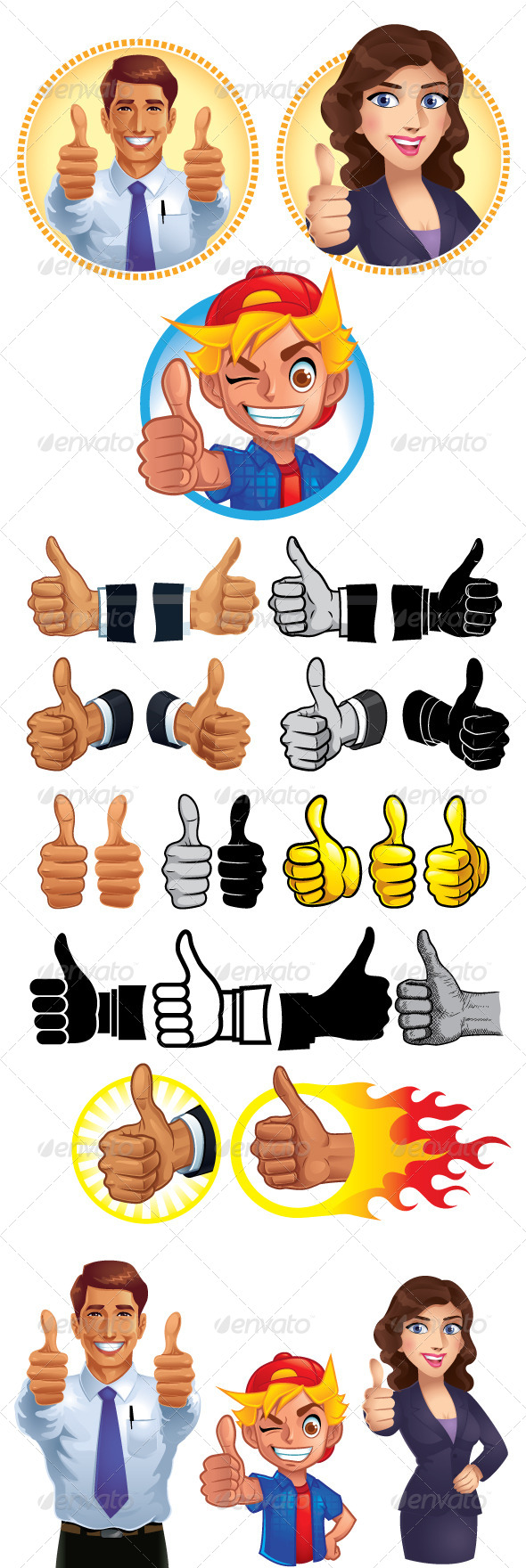 GraphicRiver Thumb Up Set 5978214