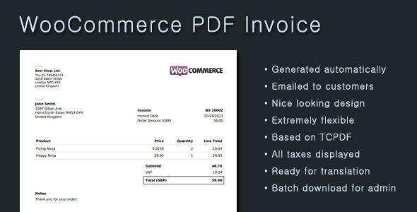 CodeCanyon WooCommerce PDF Invoice 5951088