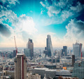 London. Beautiful city skyline at dusk, aerial view - PhotoDune Item for Sale