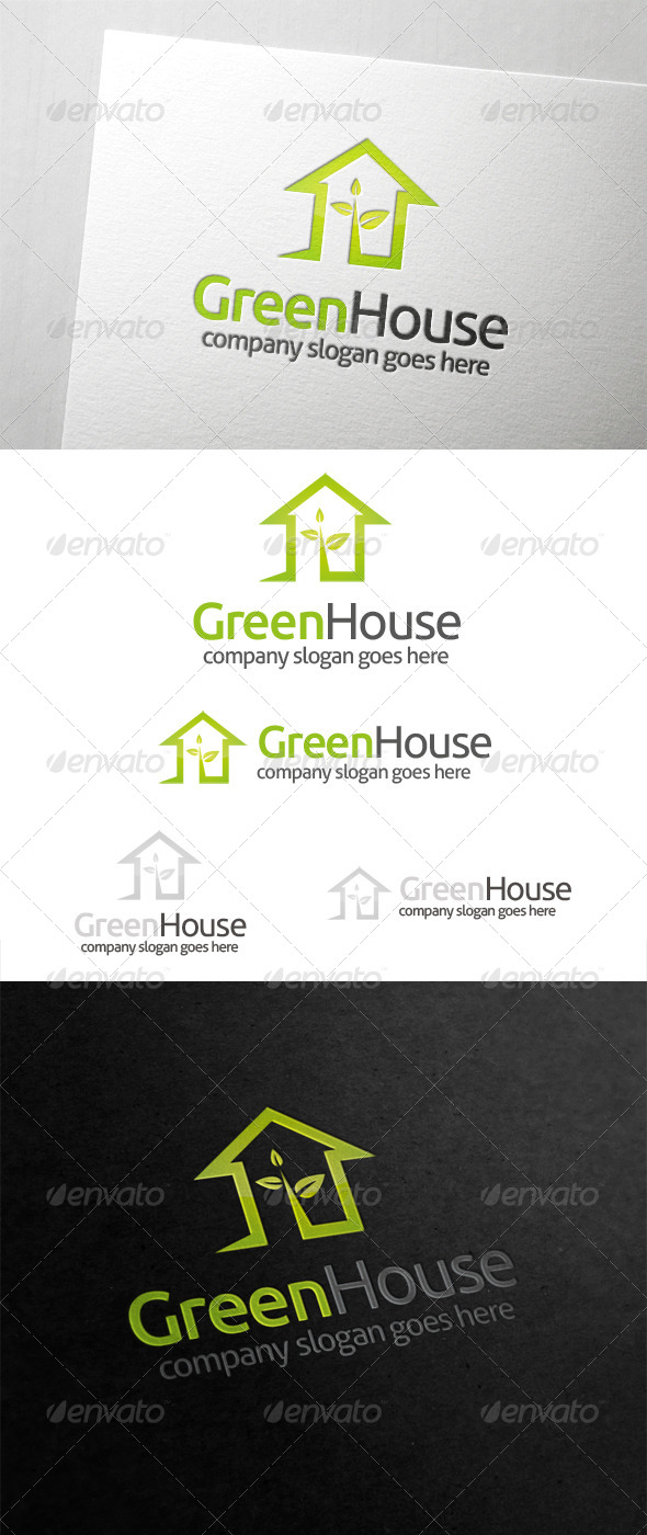 GraphicRiver Green House Logo 5979418