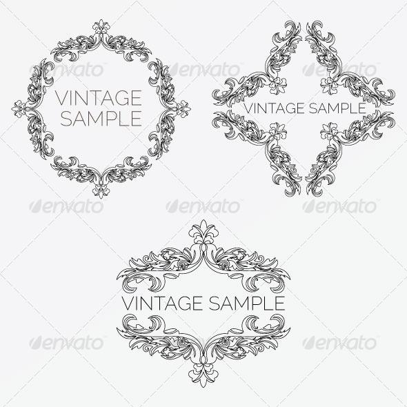 GraphicRiver Vintage Frame 61 5980049