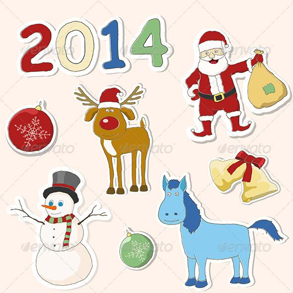 GraphicRiver Set of Christmas Icons 5980380
