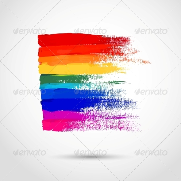 GraphicRiver Rainbow Strokes 5980482