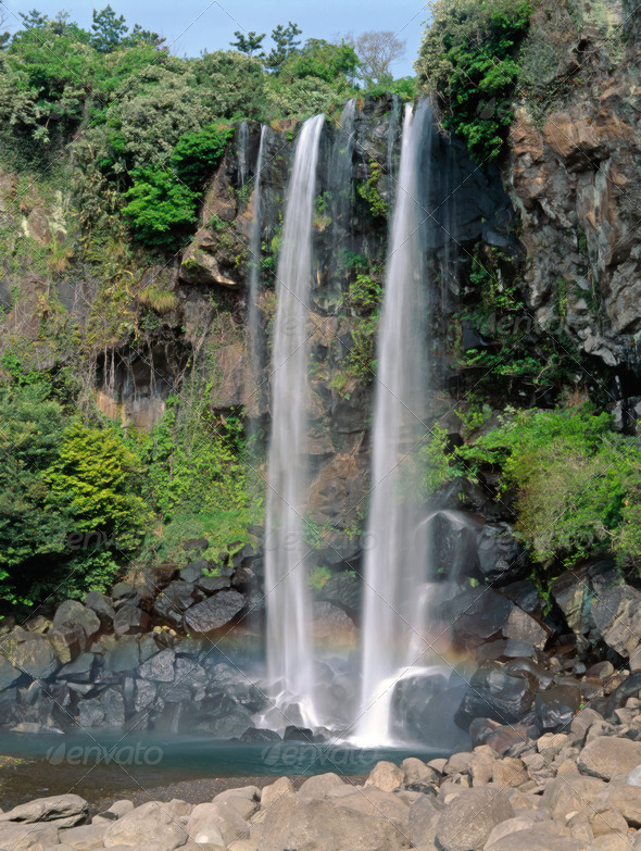Jeongbang falls - Stock Photo - Images